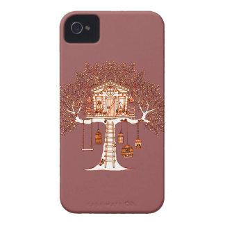 Carcasa Para iPhone 4 De Case-Mate Casa del árbol