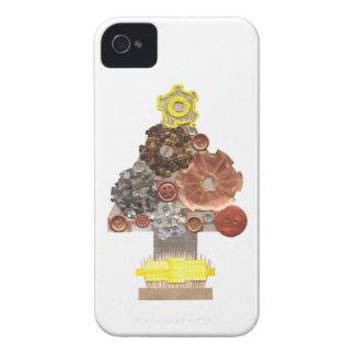 Carcasa Para iPhone 4 De Case-Mate Caso de IPhone 4 del árbol de navidad de Steampunk