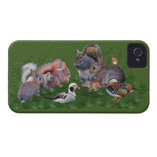 Carcasa Para iPhone 4 De Case-Mate Caso del iPhone 4 de los animales del arbolado