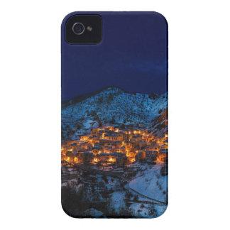 Carcasa Para iPhone 4 De Case-Mate Castelmezzano Italia en la noche