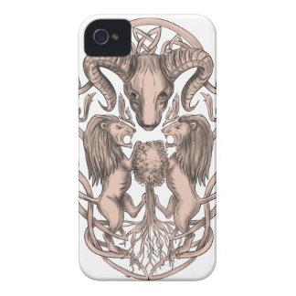 Carcasa Para iPhone 4 De Case-Mate Celtic Knotwo del escudo de armas del árbol del