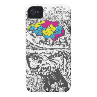 Carcasa Para iPhone 4 De Case-Mate cerebros del color del vintage