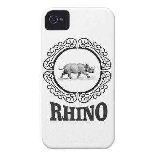 Carcasa Para iPhone 4 De Case-Mate club del rinoceronte