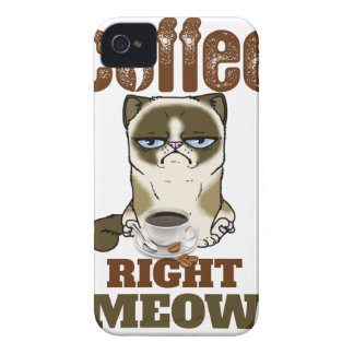 Carcasa Para iPhone 4 De Case-Mate Coffee Right Meow