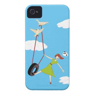 Carcasa Para iPhone 4 De Case-Mate Consigo alto con una poca ayuda de mis amigos