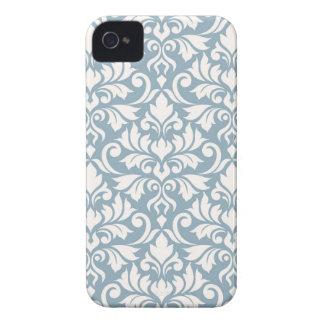 Carcasa Para iPhone 4 De Case-Mate Crema grande del modelo del damasco del Flourish