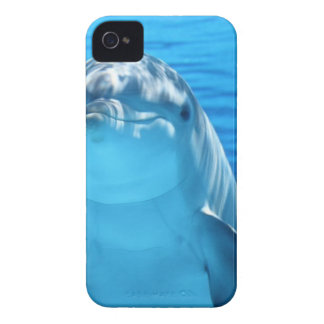 Carcasa Para iPhone 4 De Case-Mate Delfín blanco y gris en el agua azul