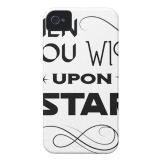 Carcasa Para iPhone 4 De Case-Mate deseo sobre una estrella