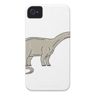 Carcasa Para iPhone 4 De Case-Mate Dinosaurio del Brontosaurus que mira abajo de mono