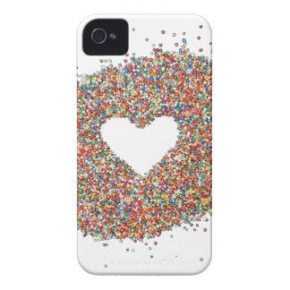 Carcasa Para iPhone 4 De Case-Mate Diseño del corazón de las chispas por Comocean