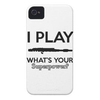 Carcasa Para iPhone 4 De Case-Mate diseño divertido de las flautas