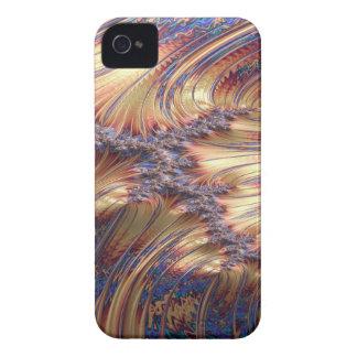 Carcasa Para iPhone 4 De Case-Mate Diseño reflexivo de tres vías del fractal de la
