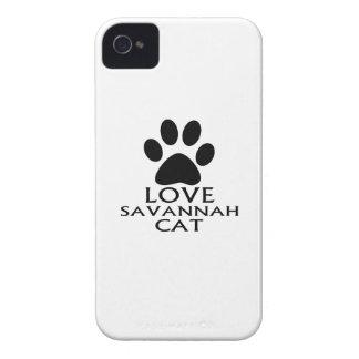 CARCASA PARA iPhone 4 DE Case-Mate DISEÑOS DEL CAT DE LA SABANA DEL AMOR