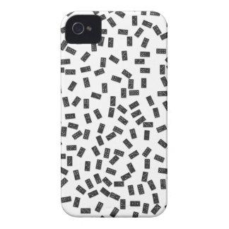 Carcasa Para iPhone 4 De Case-Mate Dominós en blanco