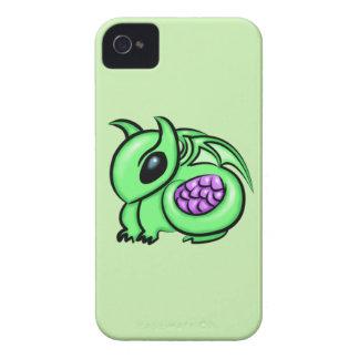 Carcasa Para iPhone 4 De Case-Mate Dragón verde, huevo púrpura del dragón
