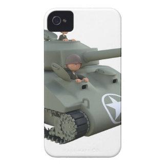 Carcasa Para iPhone 4 De Case-Mate El tanque y soldados del dibujo animado que van