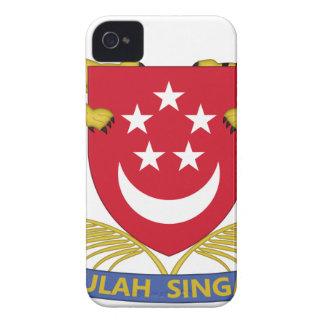 Carcasa Para iPhone 4 De Case-Mate Escudo de armas del emblema del 新加坡国徽 de Singapur