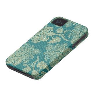 Carcasa Para iPhone 4 De Case-Mate falso trullo del cordón y modelo floral poner