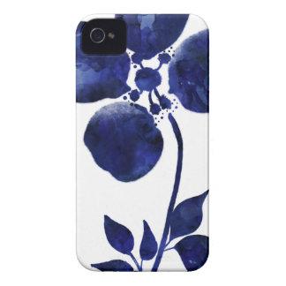 Carcasa Para iPhone 4 De Case-Mate Flor azul