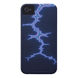 Carcasa Para iPhone 4 De Case-Mate Fractal de Lightstorm del relámpago