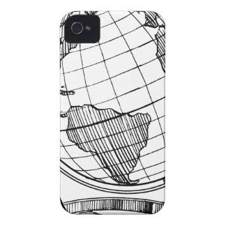 Carcasa Para iPhone 4 De Case-Mate Globo del mundo