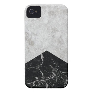 Carcasa Para iPhone 4 De Case-Mate Granito concreto #844 del negro de la flecha