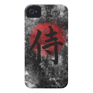 Carcasa Para iPhone 4 De Case-Mate Grunge 2 del samurai del kanji
