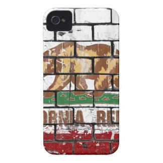 Carcasa Para iPhone 4 De Case-Mate Grunge de la pared de ladrillo de la bandera de