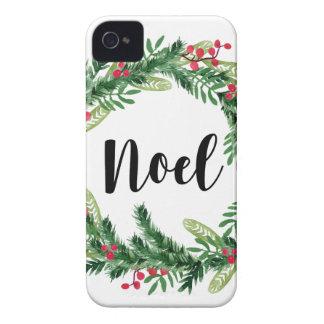 Carcasa Para iPhone 4 De Case-Mate Guirnalda de la acuarela del navidad
