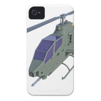 Carcasa Para iPhone 4 De Case-Mate Helicóptero de Apache en vista delantera