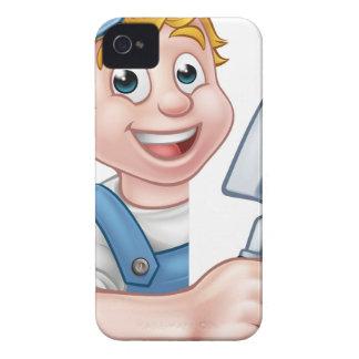 Carcasa Para iPhone 4 De Case-Mate Herramienta de la paleta del trabajador de