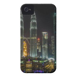 Carcasa Para iPhone 4 De Case-Mate Horizonte de Kuala Lumpar en la noche