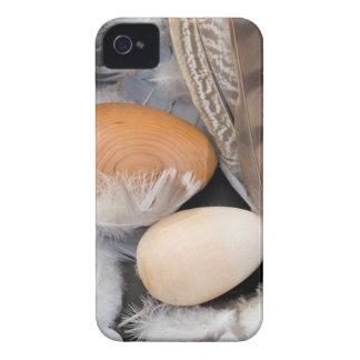 Carcasa Para iPhone 4 De Case-Mate Huevos y plumas