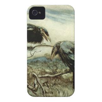 Carcasa Para iPhone 4 De Case-Mate Ilustracion de dos cuervos