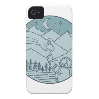 Carcasa Para iPhone 4 De Case-Mate La luna del Brontosaurus del astronauta