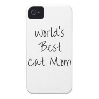 Carcasa Para iPhone 4 De Case-Mate La mejor mamá del gato del mundo - negro