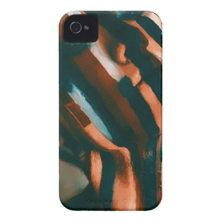 Carcasa Para iPhone 4 De Case-Mate La señora pintada de los tigres y de las ondas