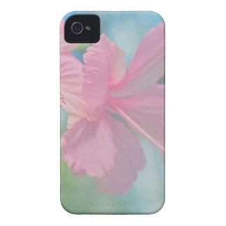 Carcasa Para iPhone 4 De Case-Mate Lanzamiento macro blando de las flores rosadas del