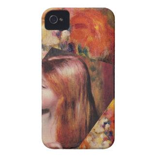 Carcasa Para iPhone 4 De Case-Mate Las flores y la belleza femenina mezclan apenas a