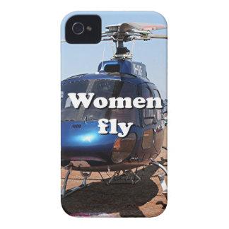 Carcasa Para iPhone 4 De Case-Mate Las mujeres vuelan: helicóptero azul