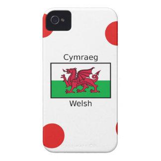 Carcasa Para iPhone 4 De Case-Mate Lengua Galés y diseño de la bandera de País de