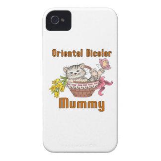 Carcasa Para iPhone 4 De Case-Mate Mamá bicolor oriental del gato
