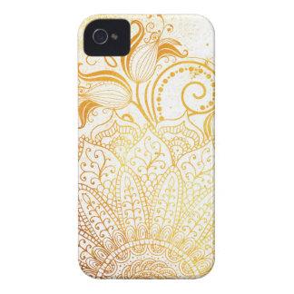 Carcasa Para iPhone 4 De Case-Mate Mandala - cepillo de oro