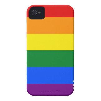 Carcasa Para iPhone 4 De Case-Mate Mapa de la bandera de Arkansas LGBT