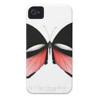 Carcasa Para iPhone 4 De Case-Mate mariposa del rojo del higo 5 por los fernandes