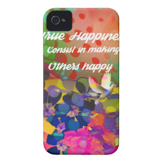 Carcasa Para iPhone 4 De Case-Mate Mensaje de la felicidad de Voltaire.