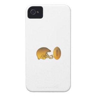 Carcasa Para iPhone 4 De Case-Mate metálico de oro de la bola americana del casco de