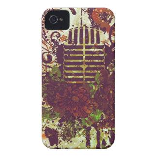 Carcasa Para iPhone 4 De Case-Mate Micrófono de la música del vintage