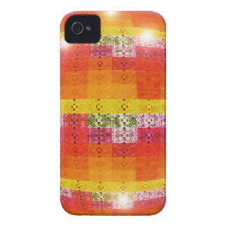 Carcasa Para iPhone 4 De Case-Mate Modelo anaranjado de la bola de discoteca