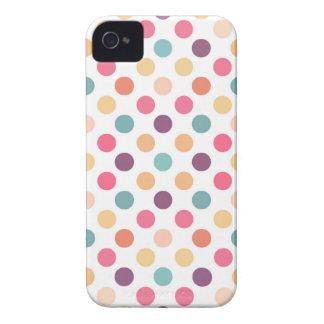 Carcasa Para iPhone 4 De Case-Mate Modelo de puntos precioso XI